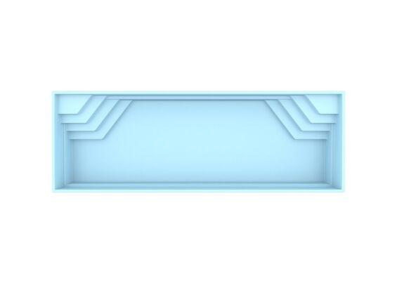 Fonteyn | Polyester Zwembad Elba 1125 x 375 x 150 cm
