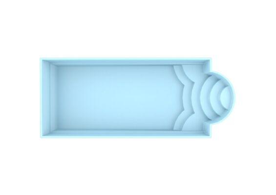 Fonteyn | Polyester Zwembad Ibiza 800 x 320 x 150 cm