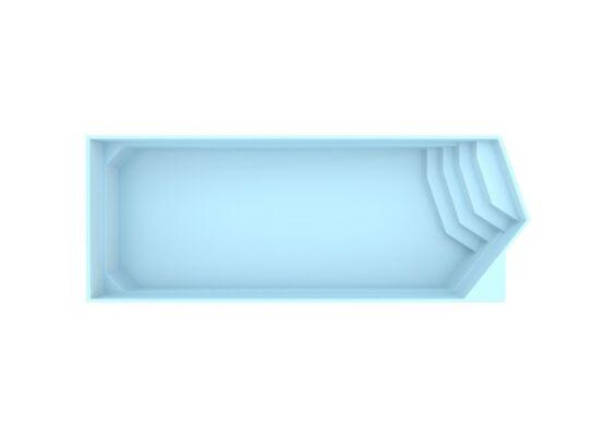 Fonteyn | Polyester Zwembad Miami 1000 x 350 x 155 cm