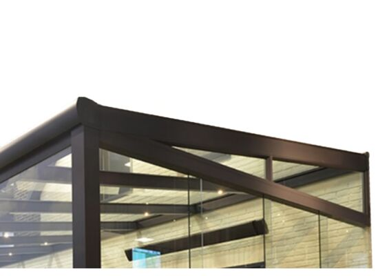 Zijwand tuinkamer glazen panoramawand tbv Comfortline 400 cm