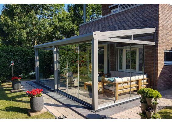 Aluxe Topline veranda met glas 3000x3500