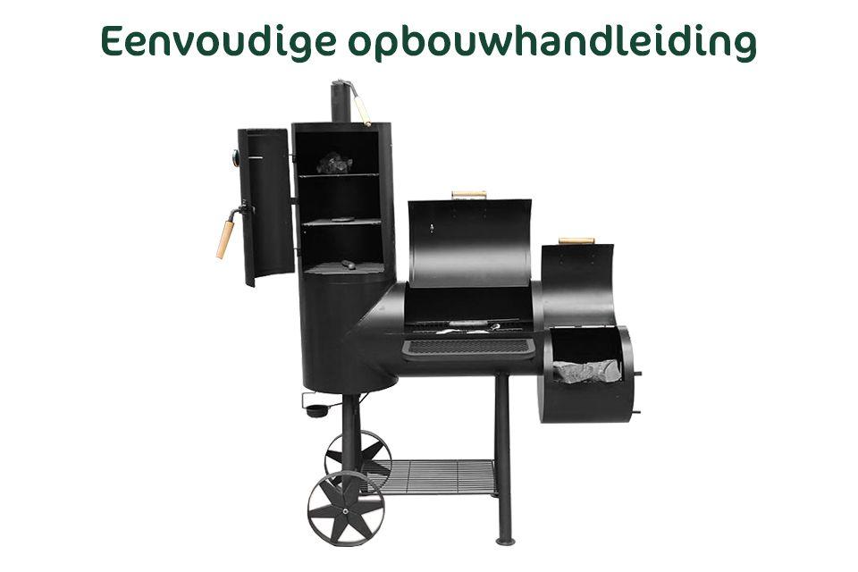 xxl bbq grill smoker holzkohlegrill barbecue grillwagen. Black Bedroom Furniture Sets. Home Design Ideas