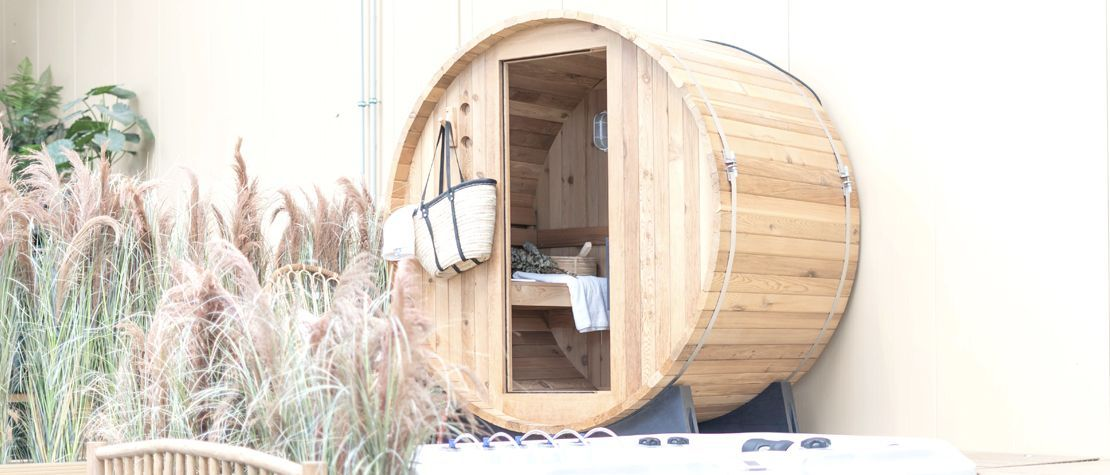 De warming-up in onze sauna's