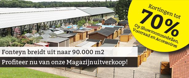 Outlet Opruiming! Fonteyn Outdoor Living Mall