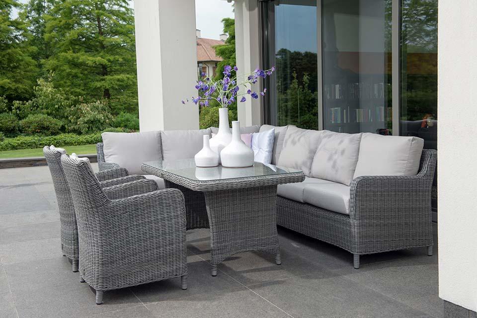 Loungeset indigo rock 4 seasons outdoor - Zwarte bank lounge ...