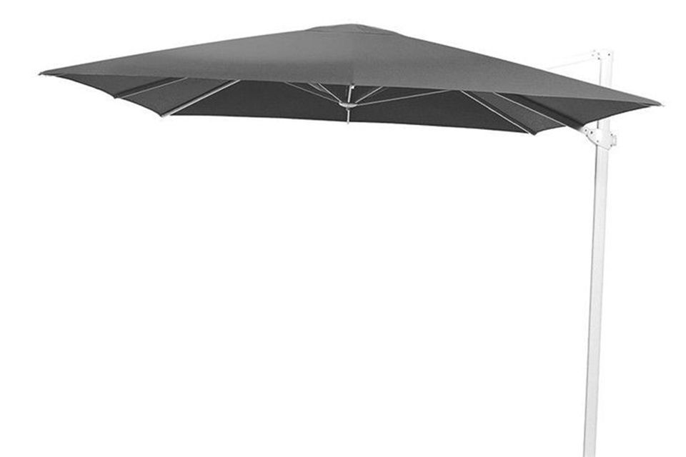 4 Seasons Outdoor | Zweefparasol Siesta 300 x 300 cm | Wit-Charcoal