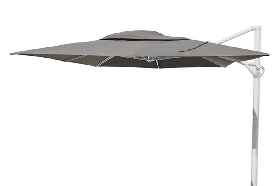 4 Seasons Outdoor | Zweefparasol Siesta Premium 300 x 400 cm | Wit-Charcoal