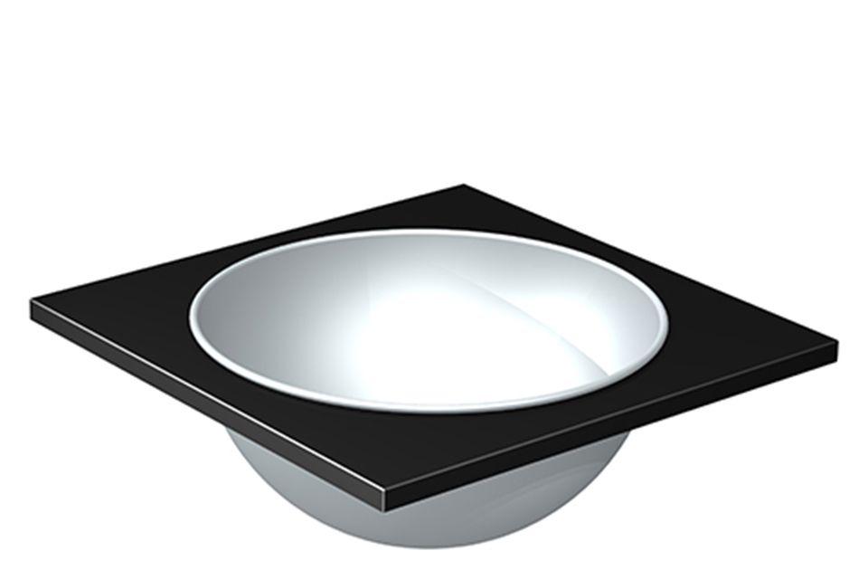 OneQ | Ice Black | Built-in Wijnkoeler/Schaal Zwart