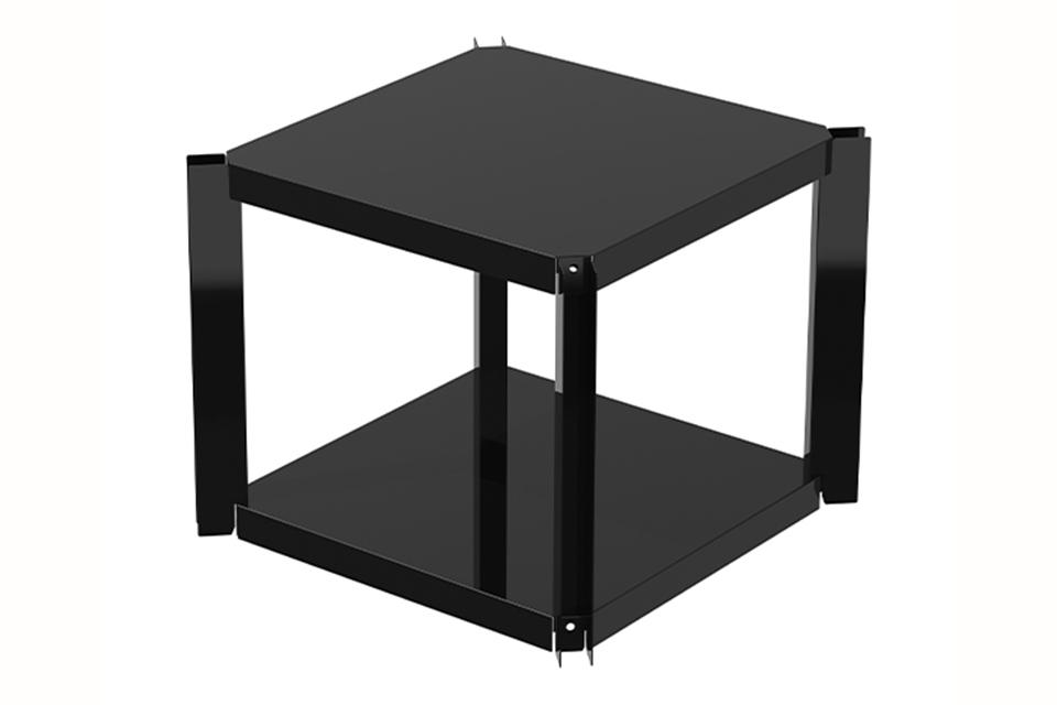 OneQ | Shelf Black | Legplank Zwart