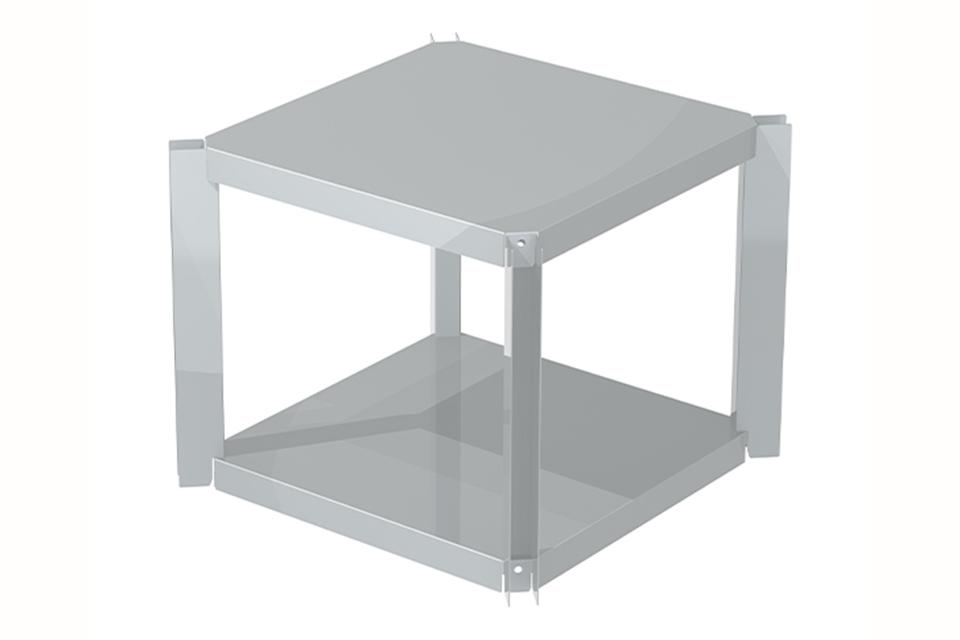 OneQ   Shelf Inox   Legplank RVS