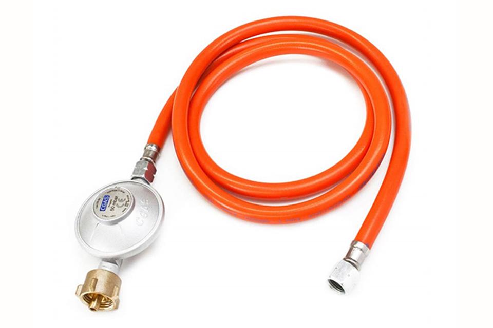 OneQ | Gas hose & Regulator 30mbar | Gasdrukregelaar