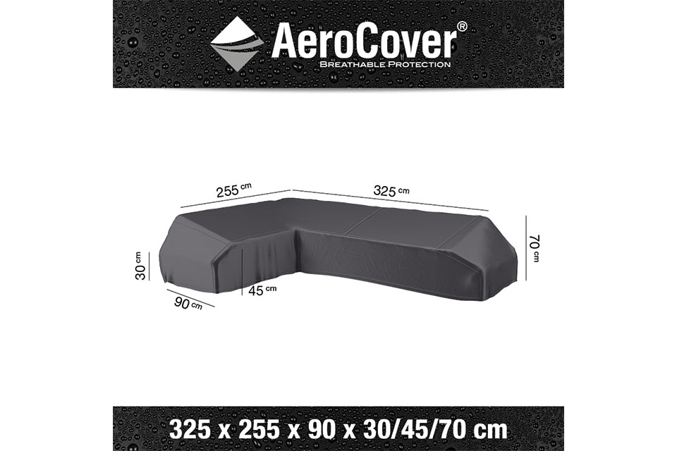 AeroCover | Loungesethoes 325 x 255 x 90 x 30-45-70(h) | L-Platform Links