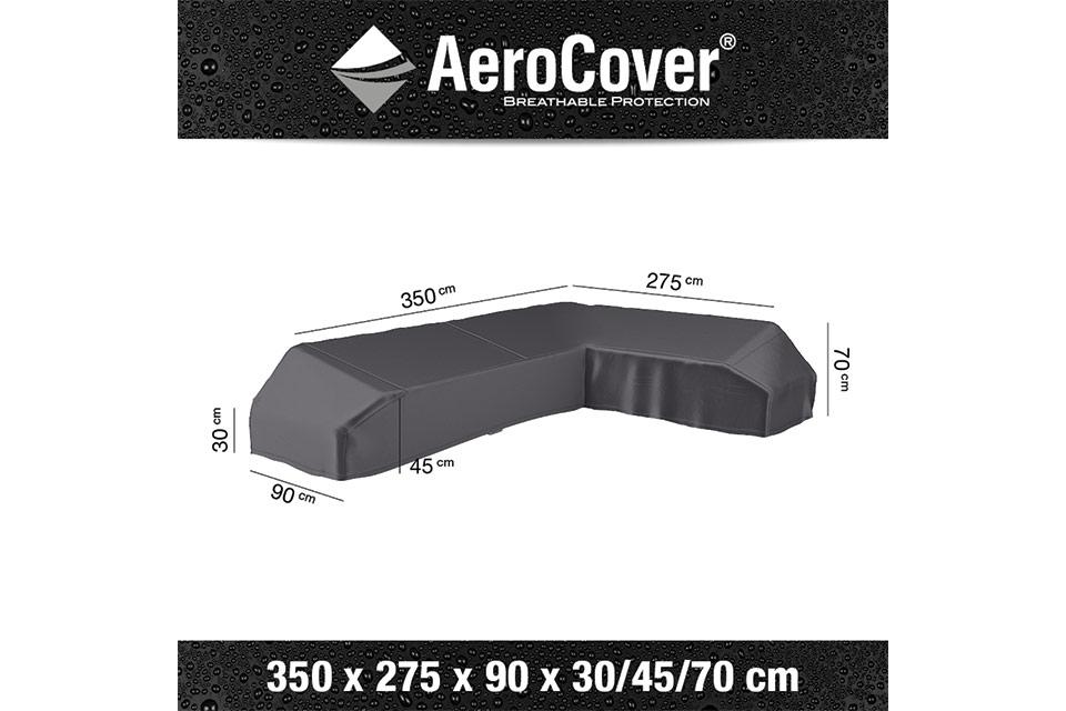 AeroCover | Loungesethoes 350 x 275 x 90 x 30-45-70(h) | L-Platform Rechts