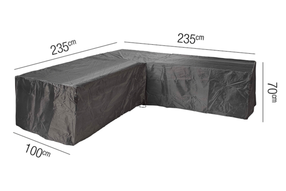 AeroCover | Loungesethoes 235 x 235 x 100 x 70(h) cm | L-vorm