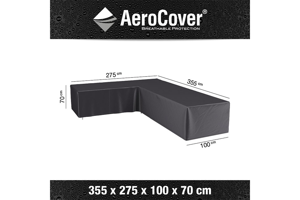 AeroCover | Loungesethoes 355 x 275 x 100 x 70(h) | L-vorm Links