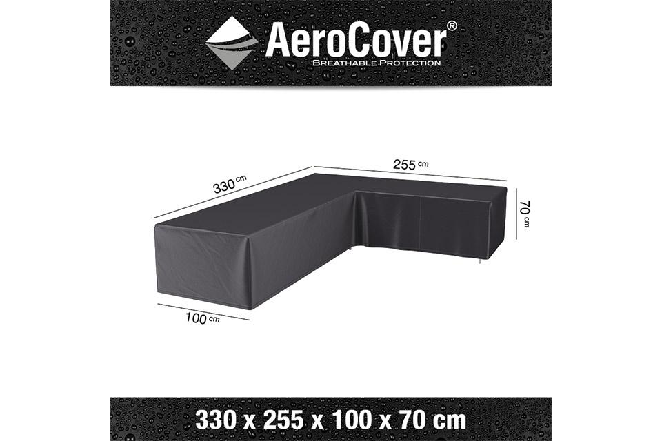 AeroCover | Loungesethoes 330 x 255 x 100 x 70(h) | L-vorm Rechts