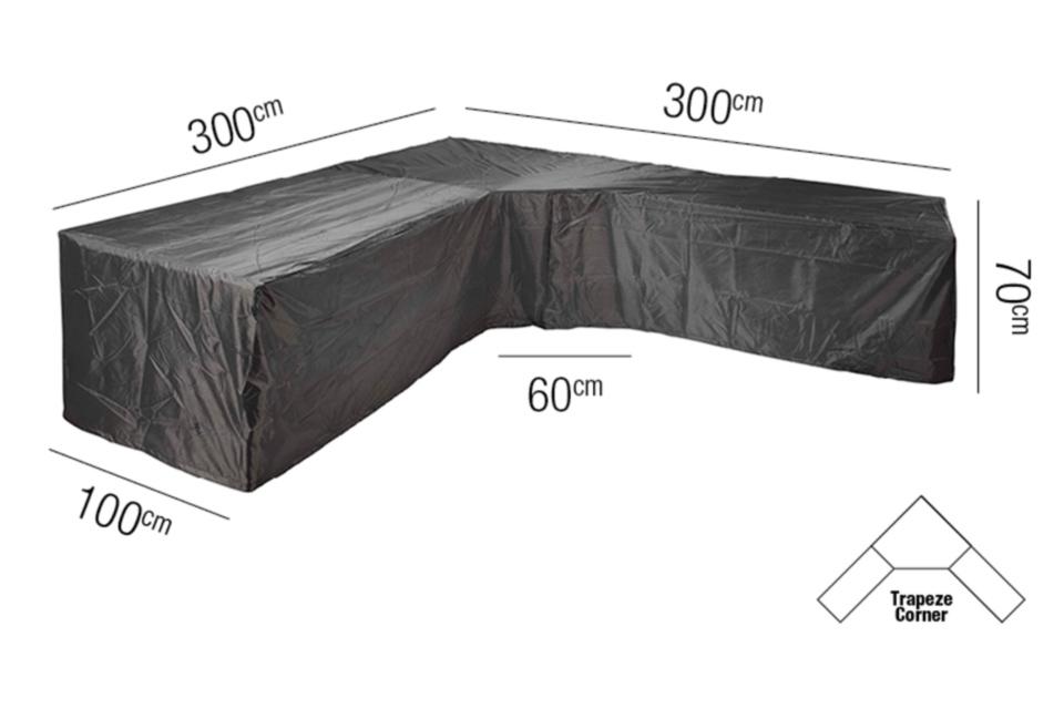 AeroCover | Loungesethoes 300 x 300 x 100 x 71(h) cm | L-vorm Trapeze