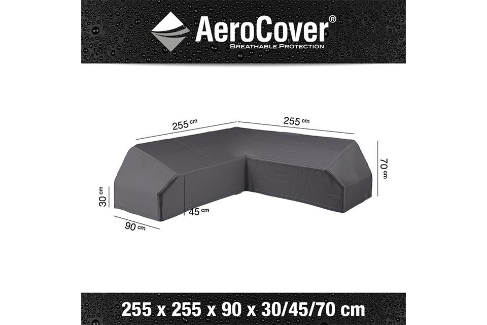 AeroCover | Loungesethoes 255 x 255 x 90 x 30-45-70(h) | L-Platform