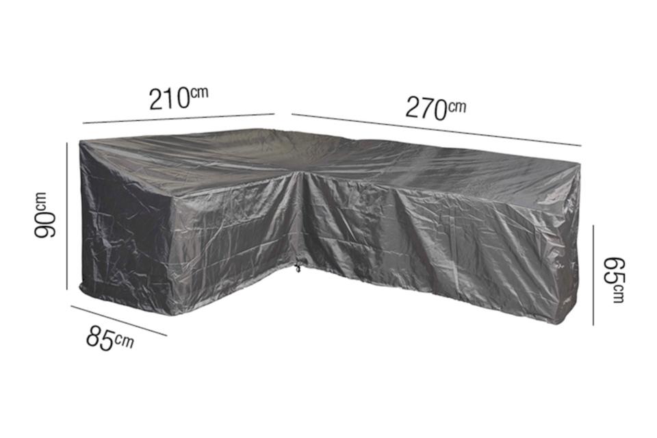 AeroCover | Loungesethoes 270 x 210 x 85 x 65(h) cm | L-vorm Links