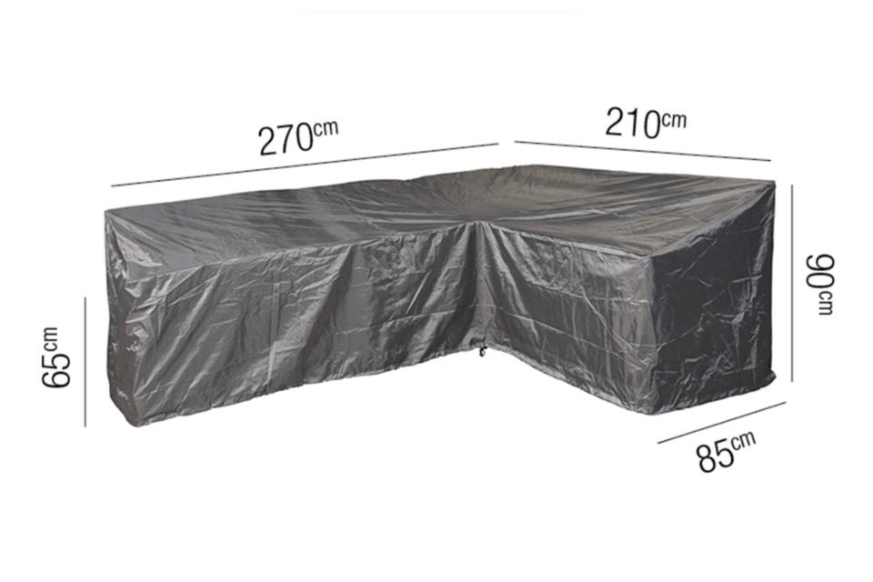 AeroCover | Loungesethoes 270 x 210 x 85 x 65(h) cm | L-vorm Rechts