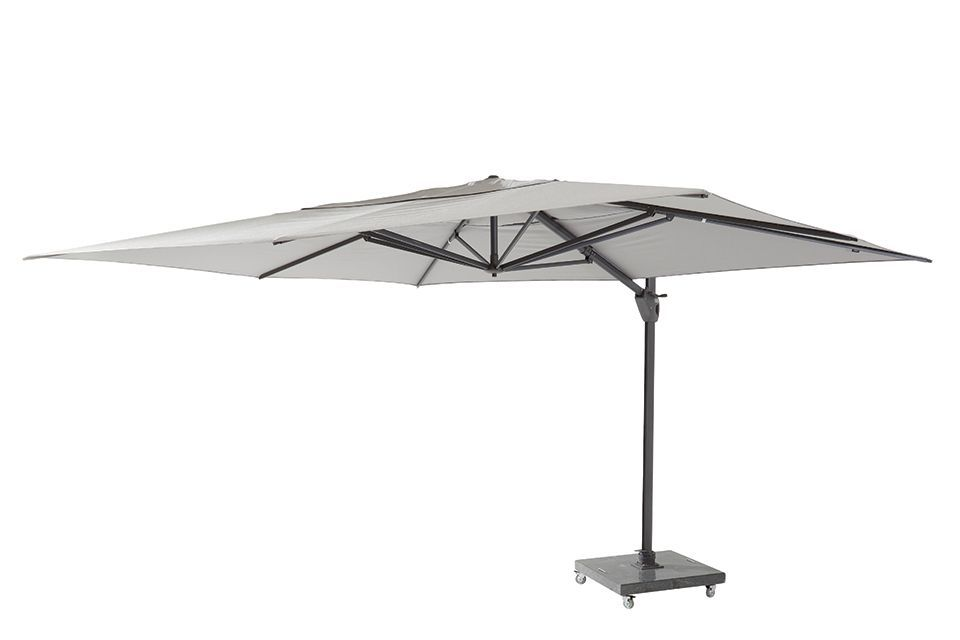 4 Seasons Outdoor | Zweefparasol Hacienda 300 x 400 cm | Antraciet-Mid Grey