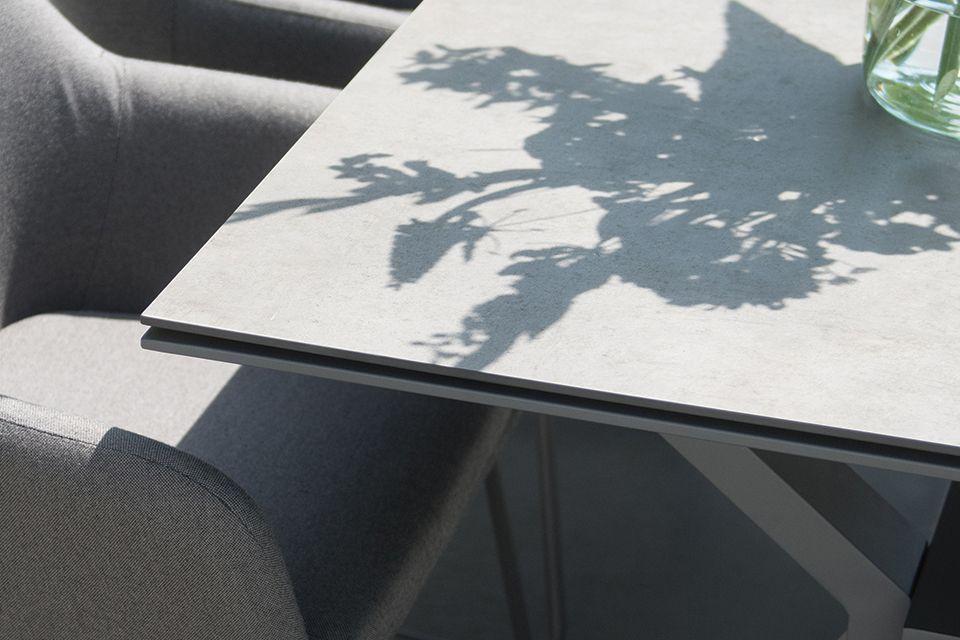 4 Seasons Outdoor | Tafelblad Goa 220 x 95 cm | HPL Light Grey