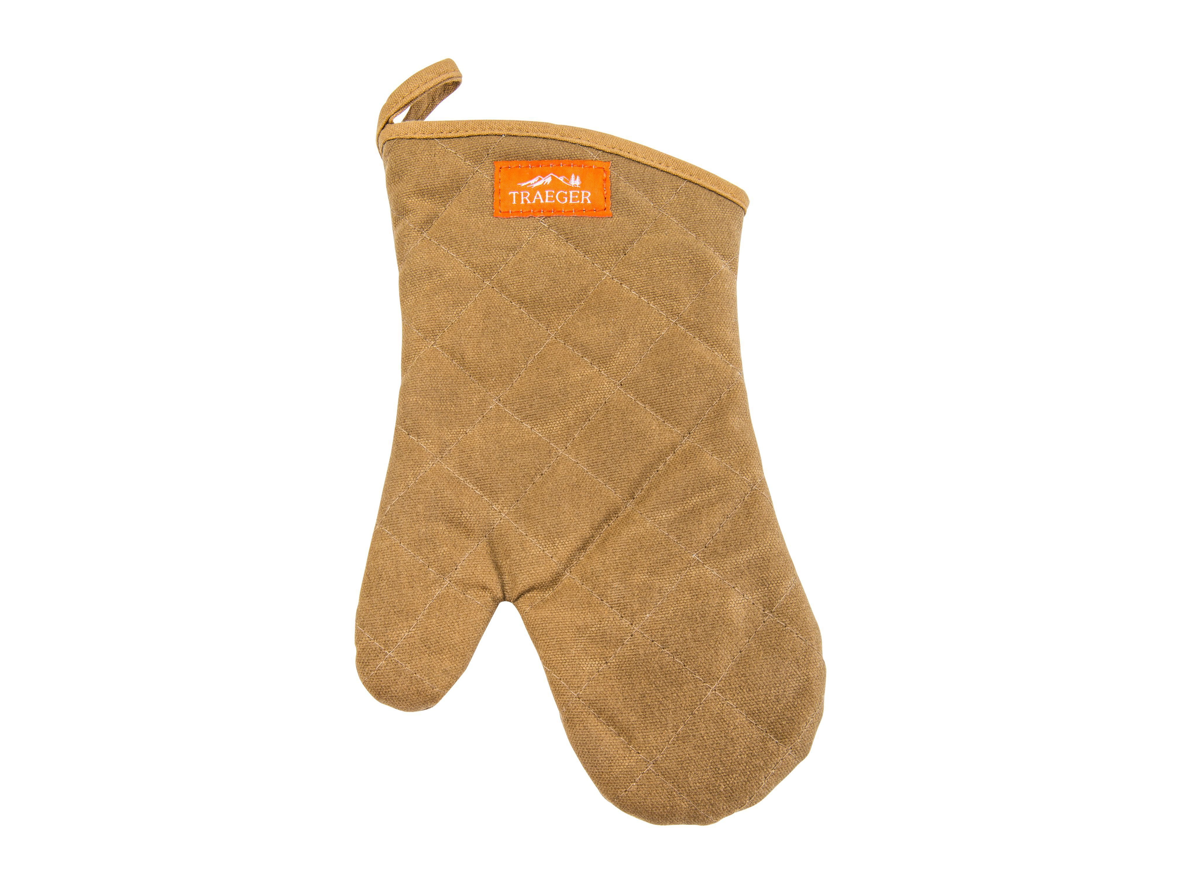 Traeger | BBQ Mitt | Brown Canvas And Leather