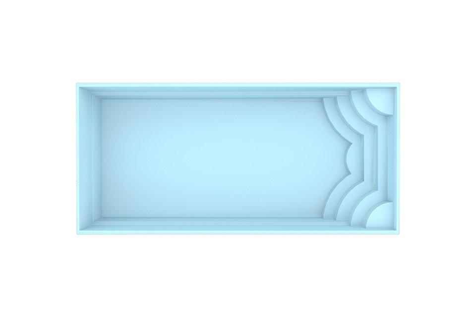 Fonteyn | Polyester Zwembad Blanes 820 x 370 x 150 cm