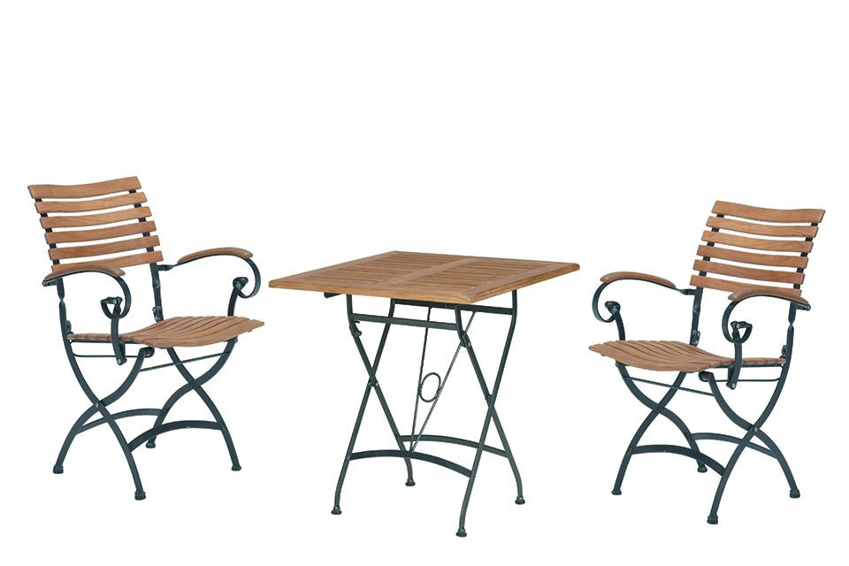 4 Seasons Outdoor | Bistroset Bellini | Zwart-Teak