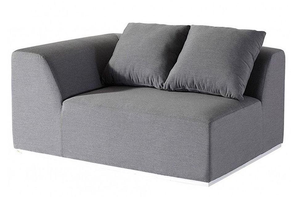 Fonteyn | Loungebank 2-zits Rechts Buddha | Grey Flanelle