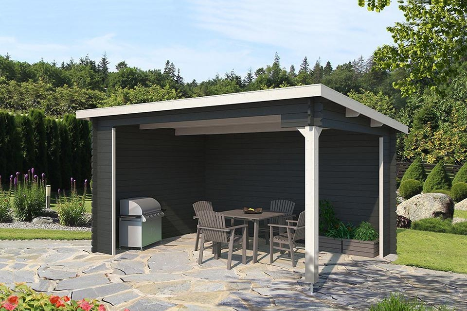 Outdoor Life Products | Overkapping Ragnar 425 x 300 | Gecoat | Carbon Grey-Wit