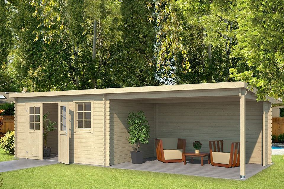 Outdoor Life Products | Tuinhuis met Overkapping Aida 760 x 275