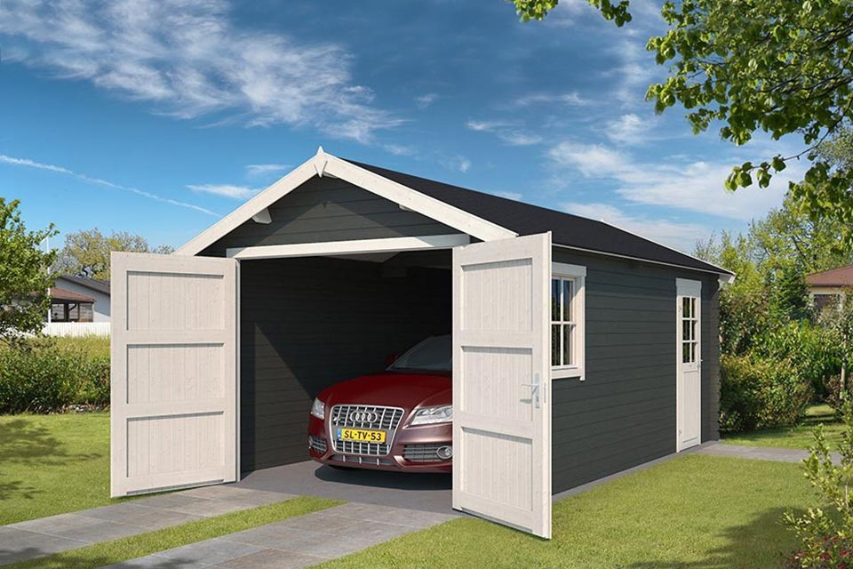Outdoor Life Products | Garage Dillon 300 x 540 | Gecoat | Carbon Grey-Wit