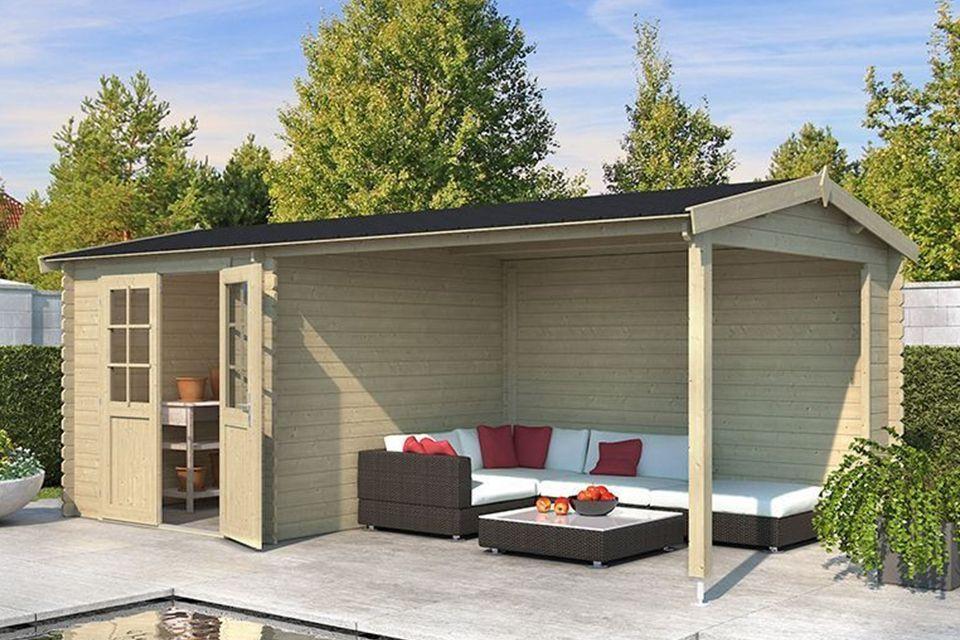 Outdoor Life Products | Tuinhuis met Overkapping Karyna 570 x 275