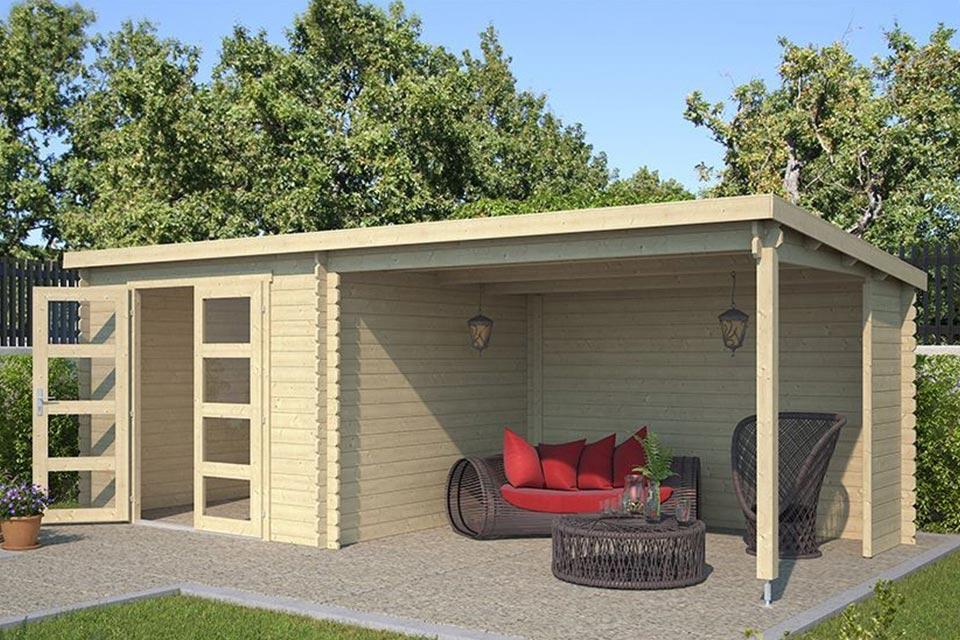 Outdoor Life Products | Tuinhuis met Overkapping Manuel 600 x 275