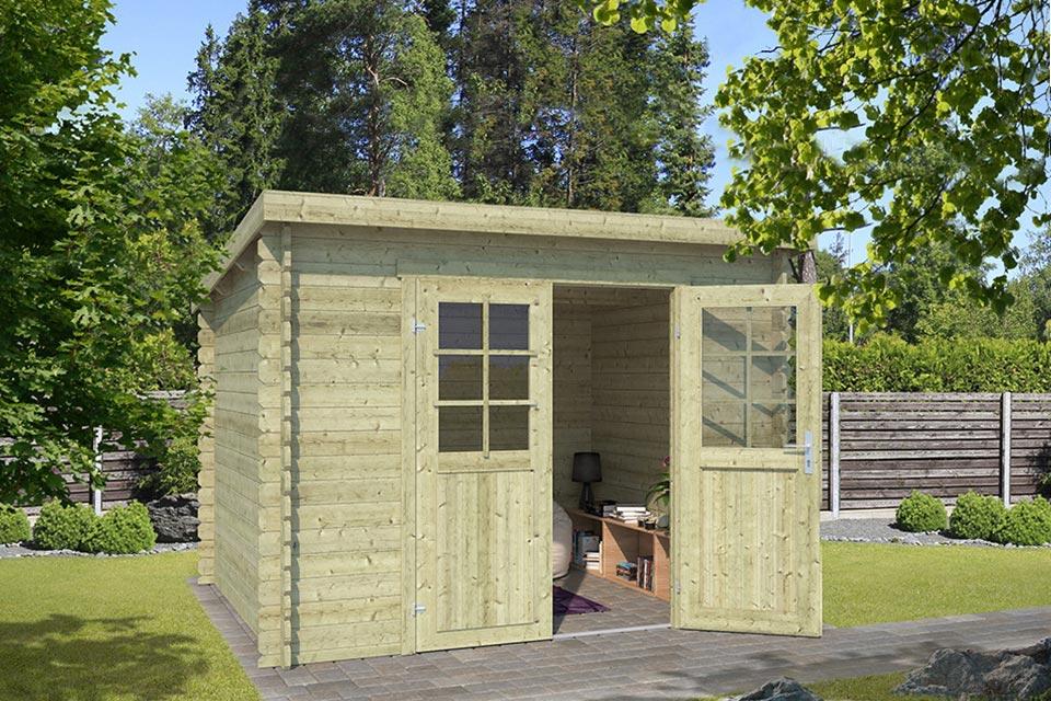 Outdoor Life Products | Tuinhuis Nadia 275 x 230 | Geïmpregneerd | Olijfgroen