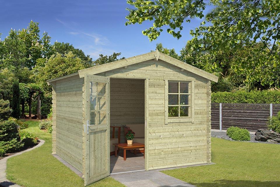 Outdoor Life Products | Tuinhuis Nina 275 x 275 | Geïmpregneerd | Olijfgroen
