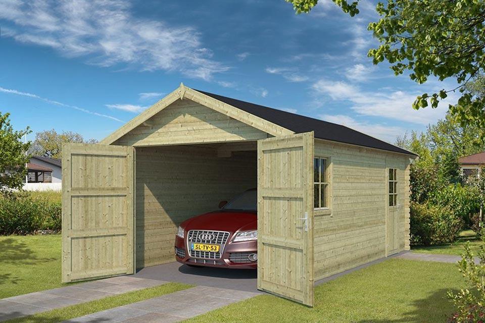 Outdoor Life Products | Garage Yarik 380 x 540 | Geïmpregneerd | Olijfgroen