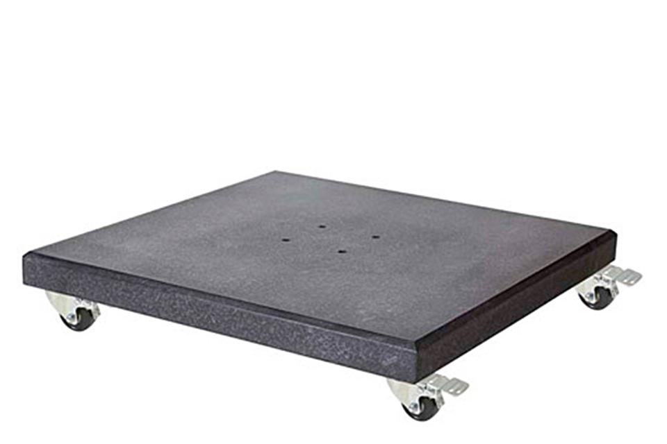 Platinum | Parasolvoet Modena Graniet met Wielen | 90 kg