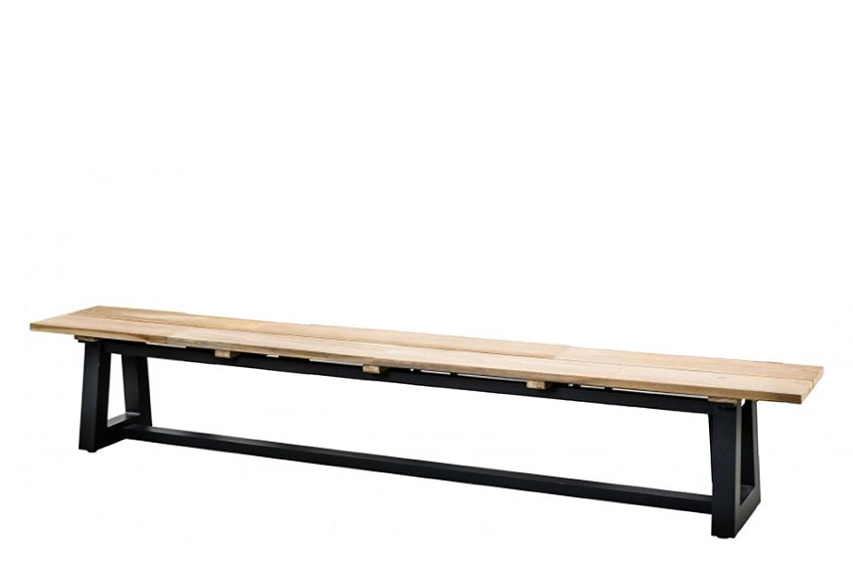 SUNS | Tuinbank Ovada 220 x 40 cm | Matt Royal Grey