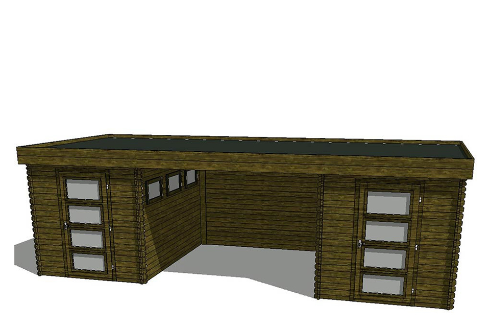 Acord Tuinhuis/Blokhut Fonteyn Module 700 x 300