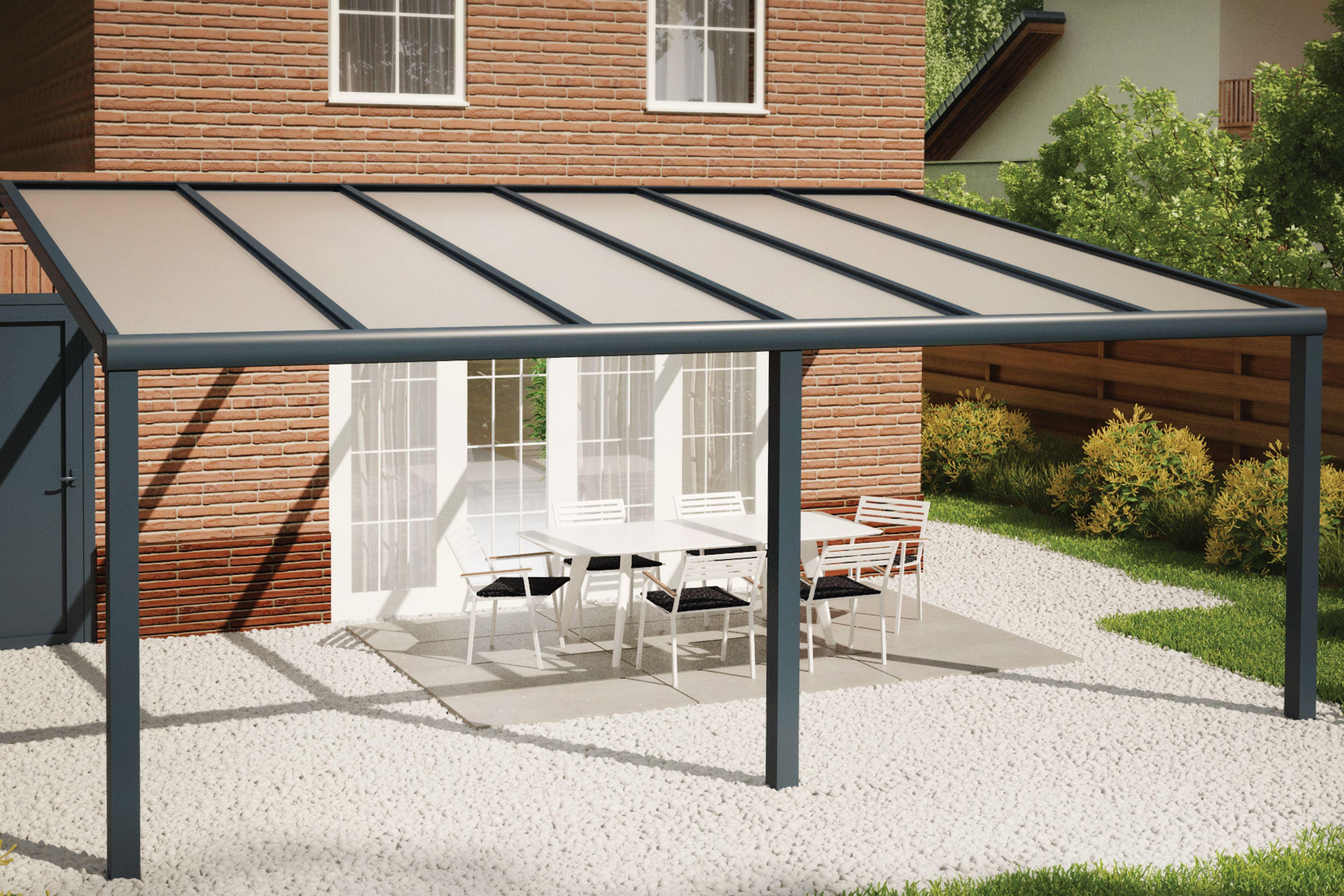 Fonteyn | Veranda Comfortline 606 x 400 cm RAL7016 Grijs