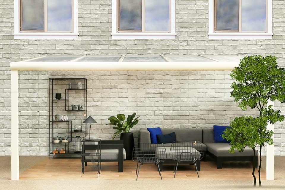 Fonteyn   Veranda Comfortline 606 x 300 cm RAL9010 Wit