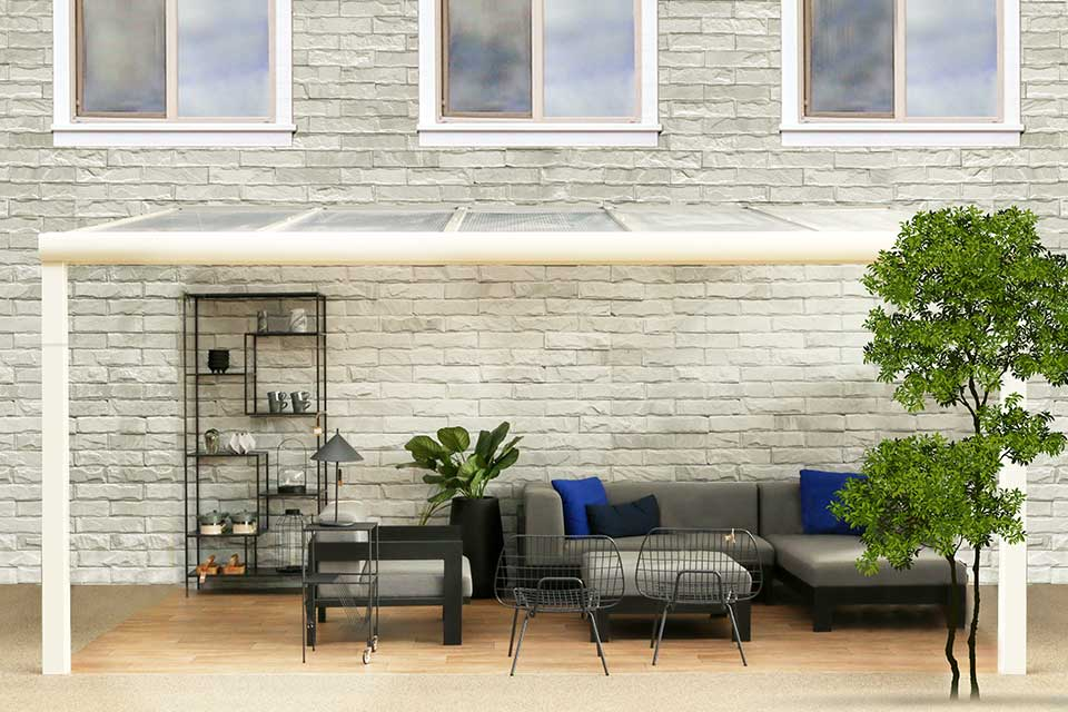 Fonteyn   Veranda Comfortline 406 x 400 cm RAL9010 Wit