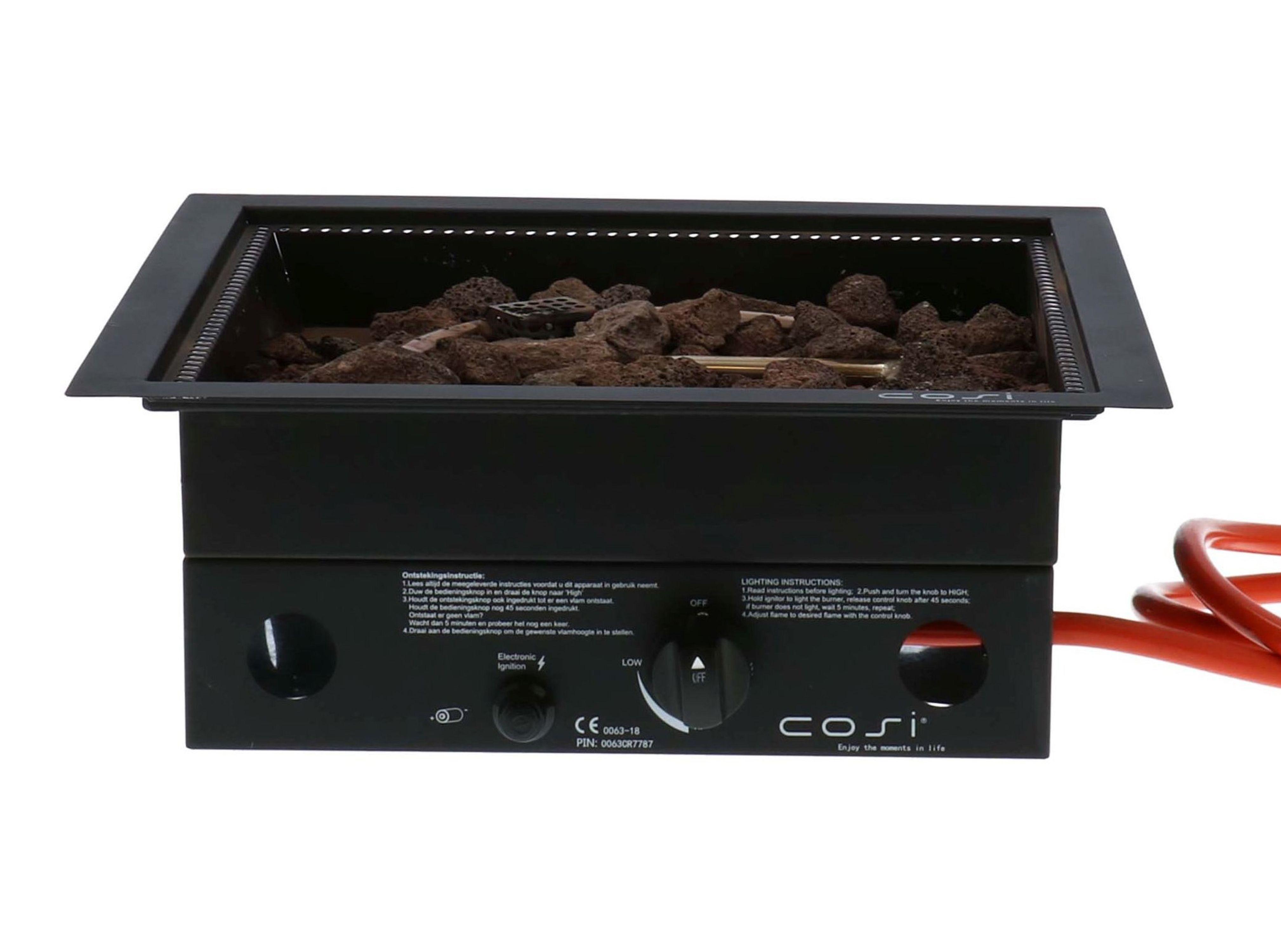 Cosi | Cosiburner Inbouwbrander | Vierkant Zwart