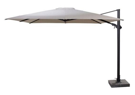 4 Seasons Outdoor | Zweefparasol Siesta Premium 300 x 300 cm | Antraciet-Taupe