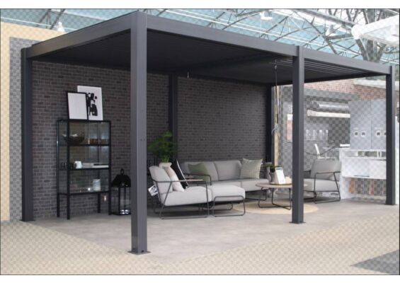 Fonteyn | Lamellen Overkapping Milano | 600 x 300 x 250 cm | Antraciet