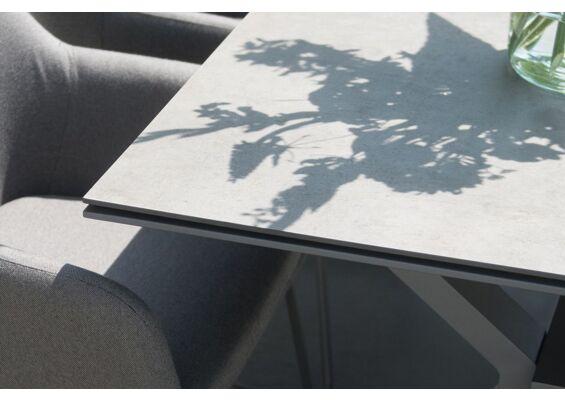 4 Seasons Outdoor | Tafelblad Goa 160 x 95 cm | HPL Light Grey