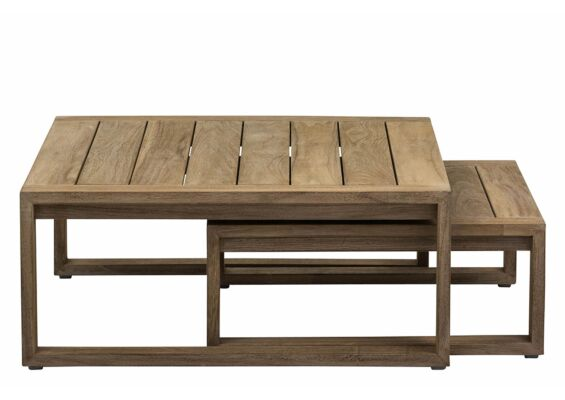 Apple Bee | Koffietafel Antigua 80 x 80 x 38 cm en 60 x 60 x 31 cm | Coastal Teak