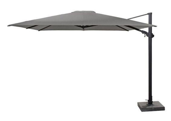 4 Seasons Outdoor | Zweefparasol Siesta Premium 300 x 300 cm | Antraciet-Charcoal
